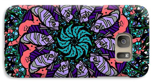 Galaxy Case featuring the digital art Fish / Seahorse #2 by Elizabeth McTaggart