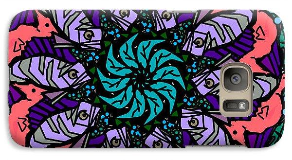 Galaxy Case featuring the digital art Fish / Seahorse by Elizabeth McTaggart
