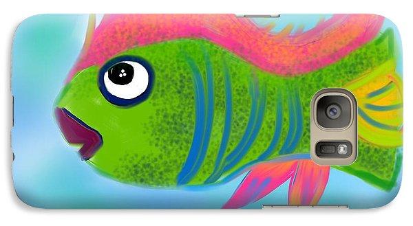 Galaxy Case featuring the digital art Fish Wish by Christine Fournier