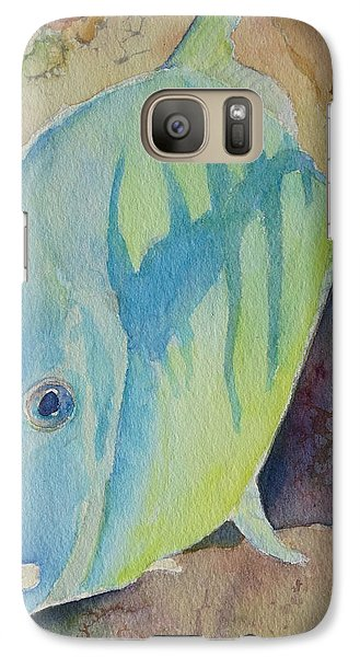Galaxy Case featuring the painting Fish Wish by Judy Mercer