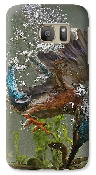 Kingfisher Galaxy S7 Case - Fisherman by Ray Cooper