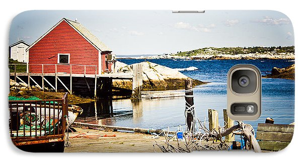 Galaxy Case featuring the photograph Fisherman's Cove by Sara Frank