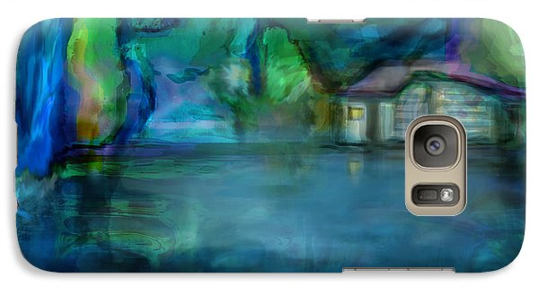 Galaxy Case featuring the digital art Fishermans Hut by Martina  Rathgens