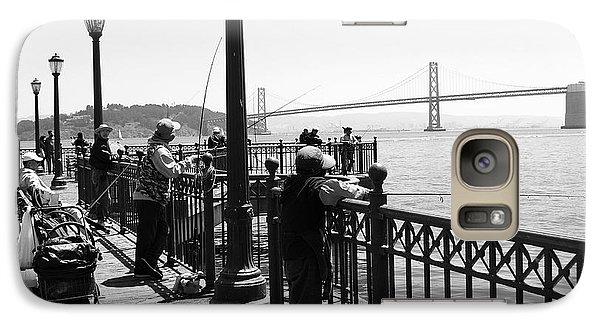 Galaxy Case featuring the photograph San Francisco - Fishing At The Pier by Haleh Mahbod