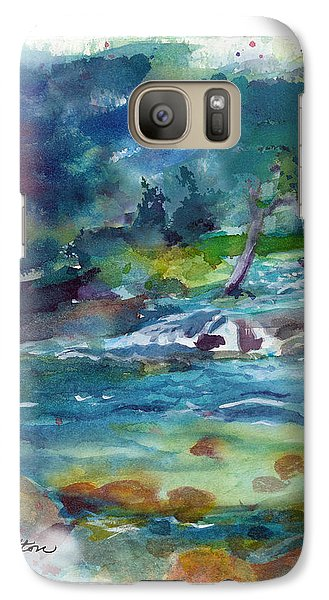Galaxy Case featuring the painting Fishin' Hole 2 by C Sitton