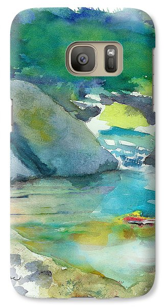 Galaxy Case featuring the painting Fishin' Hole by C Sitton