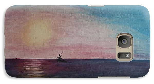 Galaxy Case featuring the painting Fishing Alone At Night by Ian Donley