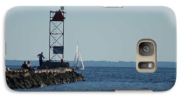 Galaxy Case featuring the photograph Fishing At Southport Harbor by Margie Avellino