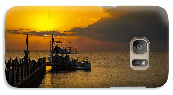Galaxy Case featuring the photograph Fishing Boat At Sunset by Phil Abrams