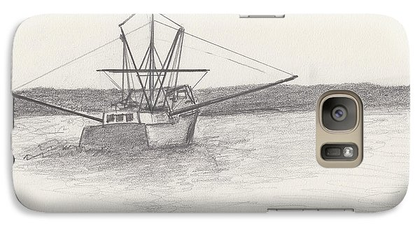 Galaxy Case featuring the drawing Fishing Boat by David Jackson