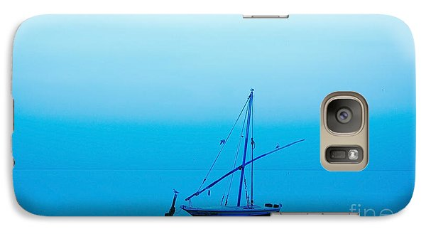 Galaxy Case featuring the photograph Fishing Boat  by Mohamed Elkhamisy