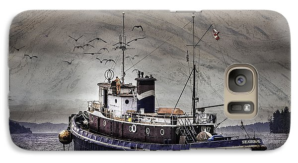 Galaxy Case featuring the mixed media Fishing Boat by Peter v Quenter