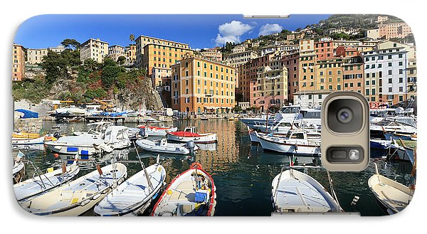 Galaxy Case featuring the photograph fishing boats in Camogli by Antonio Scarpi