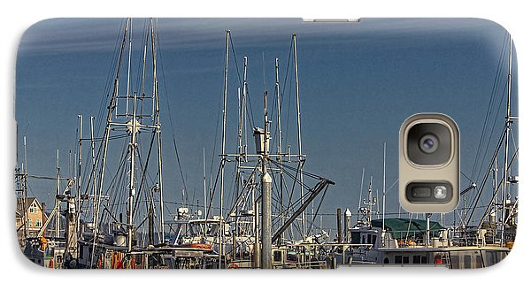 Galaxy Case featuring the photograph Fishing Boats With Eagle by Timothy Latta