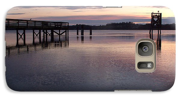 Galaxy Case featuring the photograph Fishing Dock Pastel by Suzy Piatt