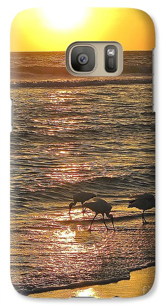 Galaxy Case featuring the photograph Fishing For The Little Ones by Joan McArthur