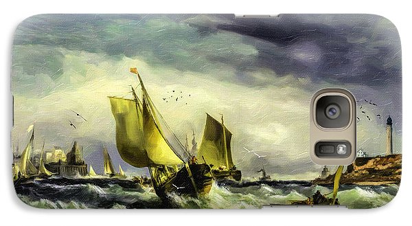 Galaxy Case featuring the digital art Fishing In High Water by Lianne Schneider