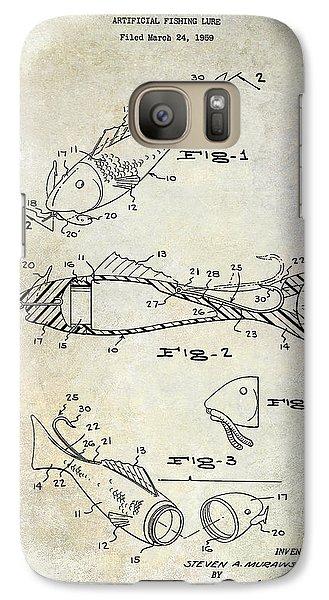Fishing Lure Patent 1959 Galaxy S7 Case