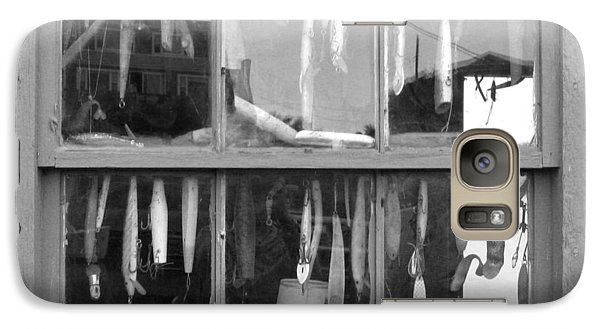 Galaxy Case featuring the photograph Fishing Lures In Window by Patricia Januszkiewicz