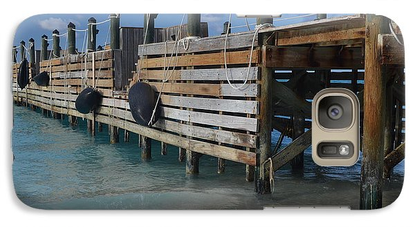 Galaxy Case featuring the photograph Fishing Pier by Judy Wolinsky