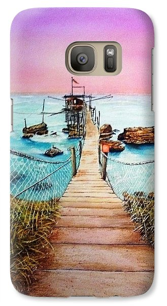 Galaxy Case featuring the painting Fishing Pier by Richard Benson