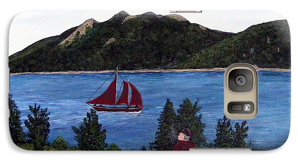 Galaxy Case featuring the painting Fishing Schooner by Barbara Griffin