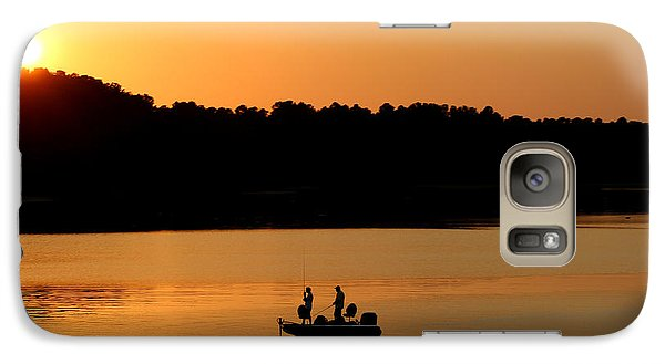 Galaxy Case featuring the photograph Fishing Silhouette  by Kathy  White