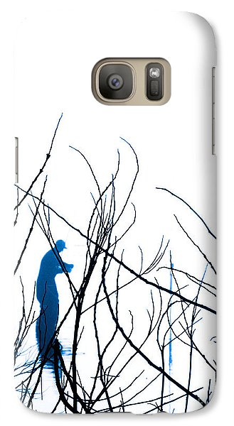 Galaxy Case featuring the photograph Fishing The River Blue by Robyn King