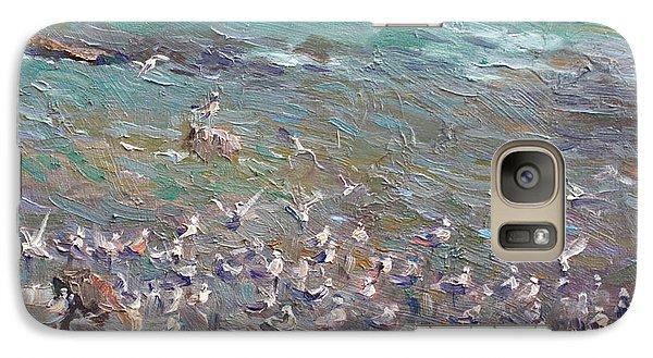 Seagull Galaxy S7 Case - Fishing Time by Ylli Haruni