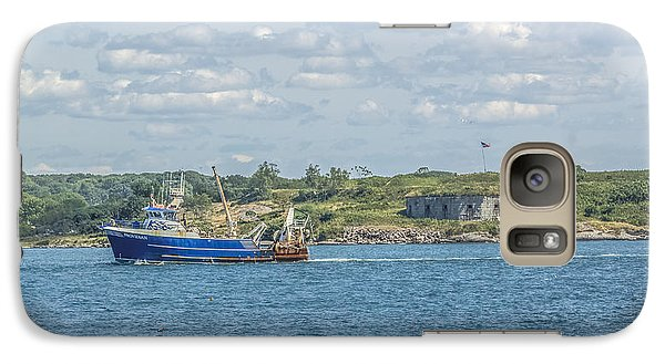 Galaxy Case featuring the photograph Fishing Trawler Coming Into Port by Jane Luxton