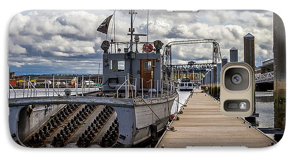 Galaxy Case featuring the photograph Fishing Vessel Tied Up At The Pier by Rob Green