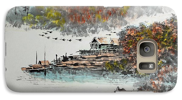Galaxy Case featuring the photograph Fishing Village In Autumn by Yufeng Wang