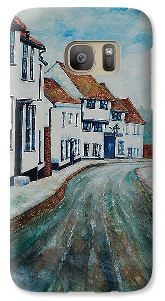 Galaxy Case featuring the painting Fishpool Street - St Albans - Winter Scene by Giovanni Caputo