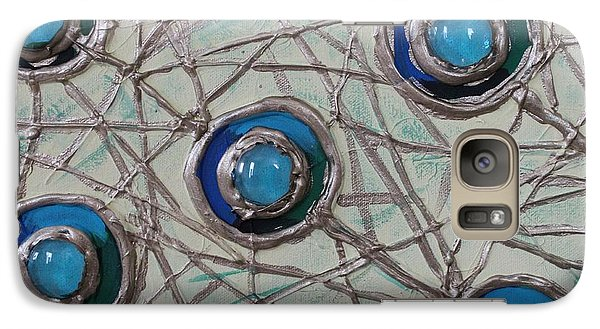 Galaxy Case featuring the painting Five Circles by Cynthia Snyder