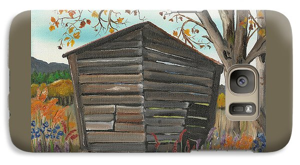 Galaxy Case featuring the painting Autumn - Shack - Woodshed by Jan Dappen