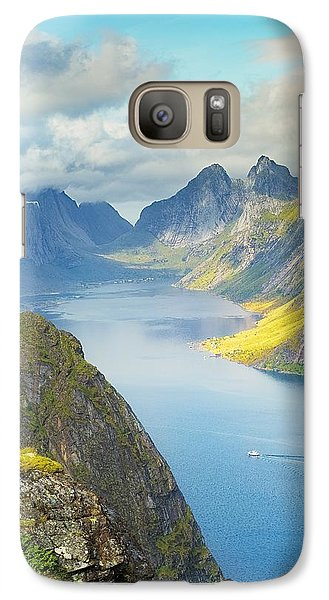 Galaxy Case featuring the photograph Fjord by Maciej Markiewicz