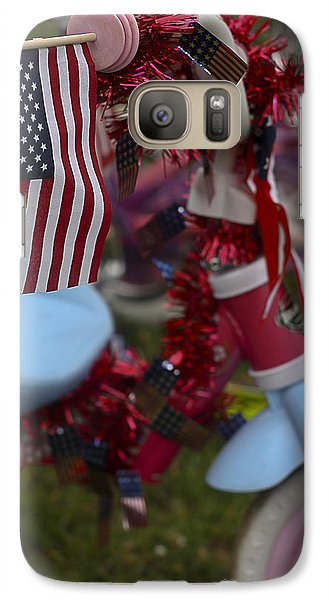 Galaxy Case featuring the photograph Flag Bike by Patrice Zinck