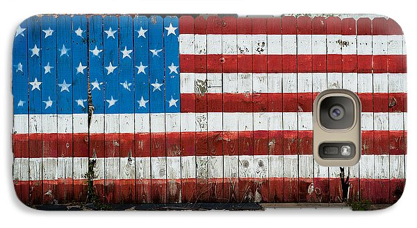 Galaxy Case featuring the photograph Flag Fence by Bud Simpson