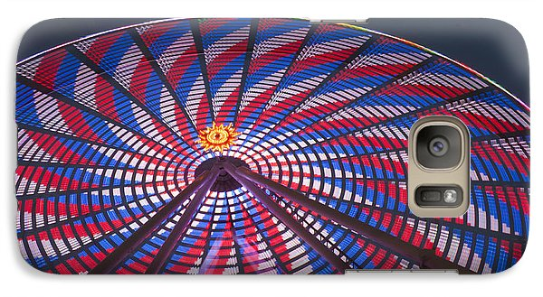 Galaxy Case featuring the photograph Flag Wheel by Darleen Stry