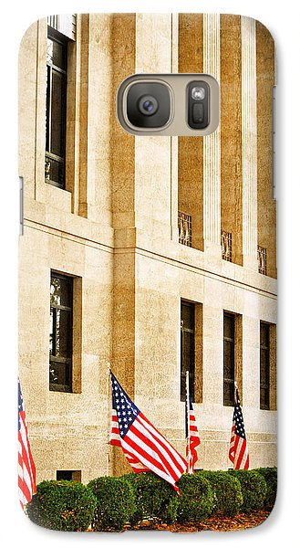 Galaxy Case featuring the photograph Flags At The Courthouse by Linda Segerson