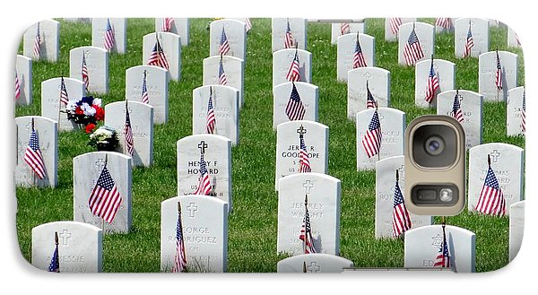 Galaxy Case featuring the photograph Flags Of Honor by Ed Weidman
