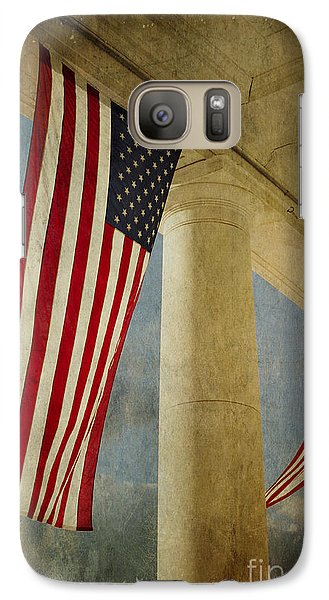 Galaxy Case featuring the photograph Flags Over Arlington by Terry Rowe