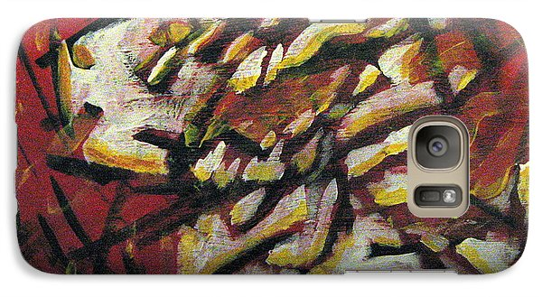 Galaxy Case featuring the painting Flame-hearted by Wendy Coulson