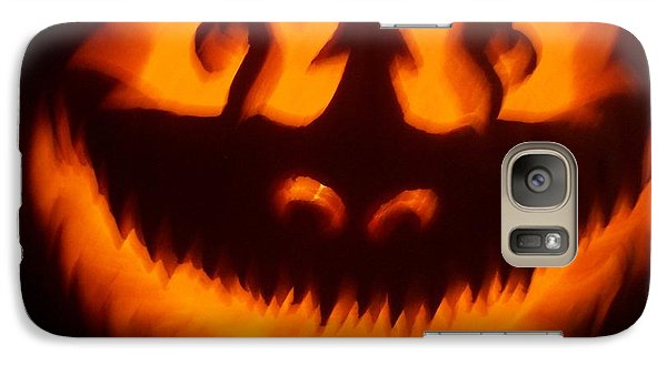 Galaxy Case featuring the sculpture Flame Pumpkin by Shawn Dall