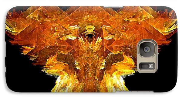 Galaxy Case featuring the digital art Flame Rider by R Thomas Brass
