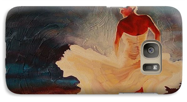 Galaxy Case featuring the painting Flamenco Allure by Janet McDonald