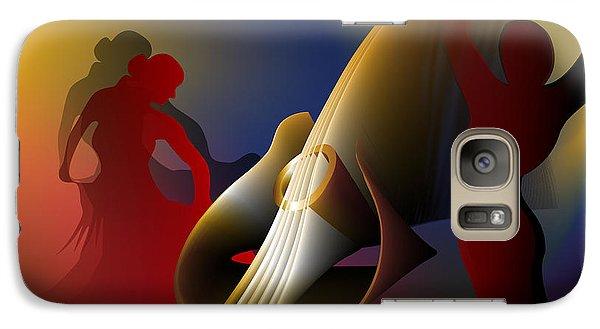 Galaxy Case featuring the digital art Flamenco by Leo Symon