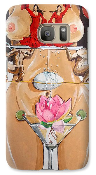 Galaxy Case featuring the painting Flamenco Of Fertility  by Lazaro Hurtado