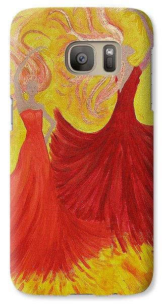 Galaxy Case featuring the painting Flamenco by Stephanie Grant