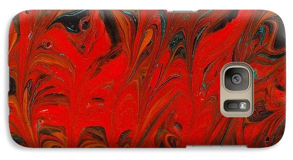 Galaxy Case featuring the painting Flames II by Carolyn Repka